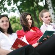 Students in the open air — Stock Photo #10608460