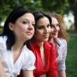 Portrait of three ladies — Stock Photo