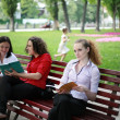 Learning in the Park — Stock Photo