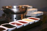 Food restaurant kitchen — Stock Photo