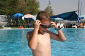 Spor gözlüklü çocuk — Stok fotoğraf