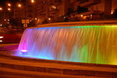 Fountain in night city — Foto de Stock