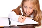 Dziewczyna sprawia, że lekcje — Zdjęcie stockowe