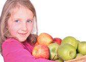 Fille avec apple — Photo