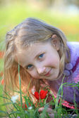 Портрет белокурый ребенок — Стоковое фото