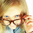 Schoolgirl with big glasses — Stock Photo #9139573