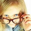 Stock Photo: Schoolgirl with big glasses