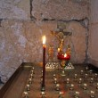 Place for the blessed candles - Stock Photo