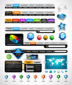 Collection of modern style web headers — Stock Vector