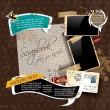 Vintage scrapbook composition — Vecteur #8525029