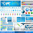 Stock Vector: Premium infographics and Web stuff master collection