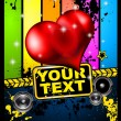Royalty-Free Stock  : Valentine\'s Day Disco Flyer