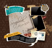 Vintage scrapbook composition — Vector de stock