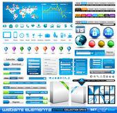 Prémio infográficos e web coisas coleção master — Vetorial Stock