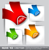"""Paper Style """"NEW"""" tags — Stock Vector"""