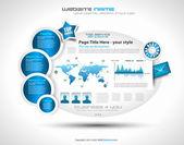Complex Website Template - Elegant Design — Stock Vector