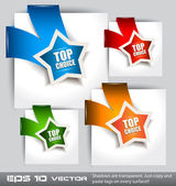 "Paper Style ""TOP CHOICE"" — Stock Vector"