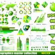 Premium Eco Green infographics master collection: — Stock Vector #9115338