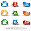 Set of nine best choices tags — Stock Vector
