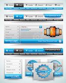 Premium templates and Web stuffs — Stock Vector