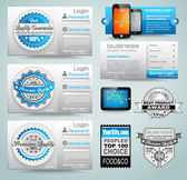 Premium templates and Web stuff master collection — Stock Vector