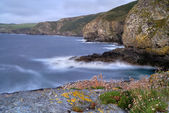Cornwall Rocky Coast Seascape, UK — Stock Photo