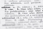 Editor Definition in English Dictionary. — Stock Photo