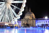Empty Icerink, Winterwonderland, Cardiif. — Stock Photo