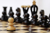 One Pawn Against Whole Opponent. — Stock Photo
