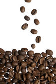 Falling Arabica Coffee Beans. — Stock Photo