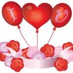 I Love You Balloons Illustration — Stock Photo #10459647