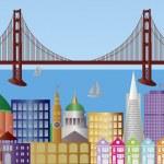San Francisco City Skyline Panorama Illustration — Stock Vector #10635932