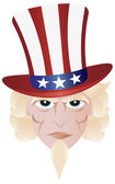 Fourth of July Uncle Sam Illustration — Stock Vector