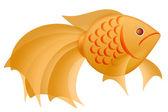 Fancy Goldfish Illustration Isolated on White — Stock fotografie