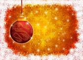 Hängande år av draken jul prydnad illustrationen — Stockfoto