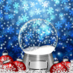 Snow Globe Blank and Christmas Tree Ornaments — Stock Photo #8101005
