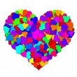 Stock Photo: Colorful Hearts Forming Big Valentines Day Heart