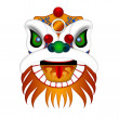 Chinese Lion Dance Head Illustration — Stock Photo