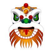 Chinese Lion Dance Head Illustration — Stock Photo