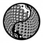 Chinese Pair of Fish in Yin Yang Circle Illustration — Stock Photo #8311100