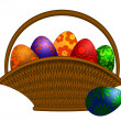 Basket of Easter Day Eggs Illustration — Stockfoto