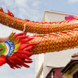 Chinese New Year Dragon Decoration in Chinatown — Stock Photo