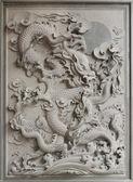 Chinese Dragon Granite Stone Carving — Stock Photo