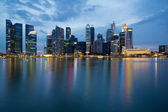 Singapore City Skyline at Blue Hour — Stock Photo