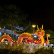 Stock Photo: Chinese New Year 2012 Dragon Sculpture on Bridge