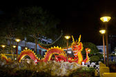 Chinese New Year 2012 Dragon Sculpture on Bridge — Stock Photo
