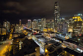 Vancouver BC Robson Street Cityscape — Stock Photo