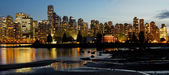 Vancouver BC City Skyline and Deadman's Island — Stock Photo