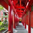 Chinese Buddhist Temple Outside Corridor - Stock Photo