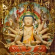Longevity Bodhisattva Samantabhadra Goddess Statue - Stock Photo